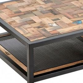 N°1.5AK16 - Table basse industrielle rectangulaire Atelier