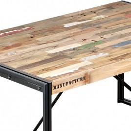 Table repas Industrielle rectangulaire Factory 160 cm
