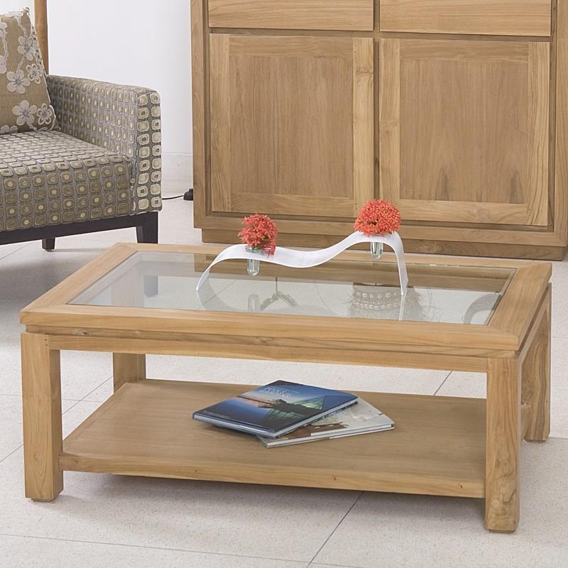 Table Basse Moderne En Teck Massif En Vente Chez Origin 39 S Meubles