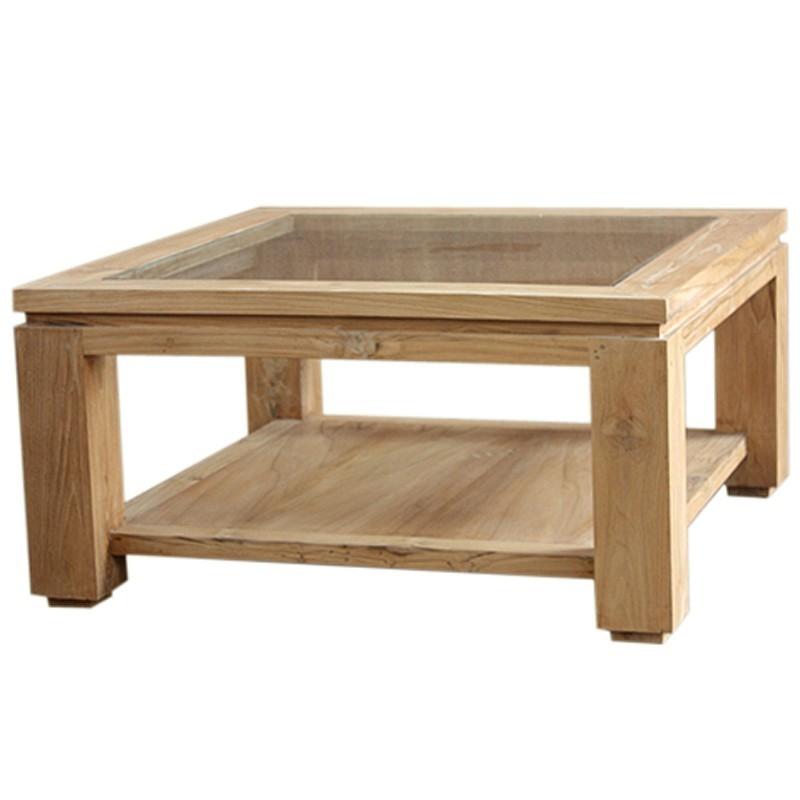 Table Basse Moderne En Teck Massif En Vente Chez Origins Meubles