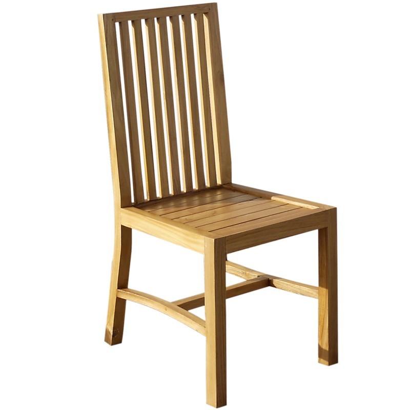 chaise en teck brut aux lignes pur e origin 39 s meubles. Black Bedroom Furniture Sets. Home Design Ideas