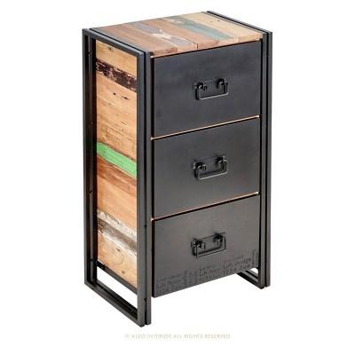 Meuble d'appoint industriel Edito 3 tiroirs