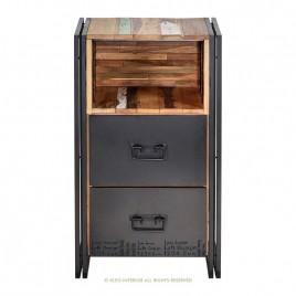 Meuble d'appoint industriel Edito 2 tiroirs