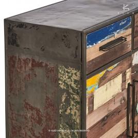 Buffet industriel Drum Bidons et bois recyclé