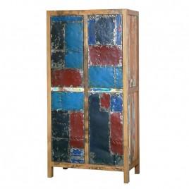 Meuble Haut LOFT en bois recyclé 4 portes
