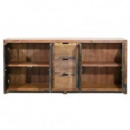 Buffet industriel LOFT 4 portes 3 tiroirs 200 cm