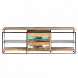 N°1.5AK28 - Meuble TV industriel 2 tiroirs Nako 160 cm