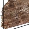 N°1.5AK28 - Console industrielle Nako métal et bois recyclé 140 cm