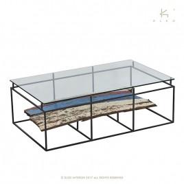 Table basse basse rectangulaire plateau NAKO 120 cm