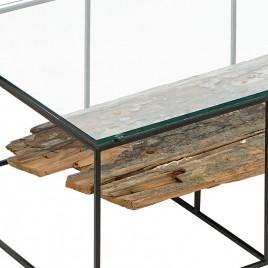 N°4.4AK07 - Table basse basse rectangulaire plateau NAKO 120 cm