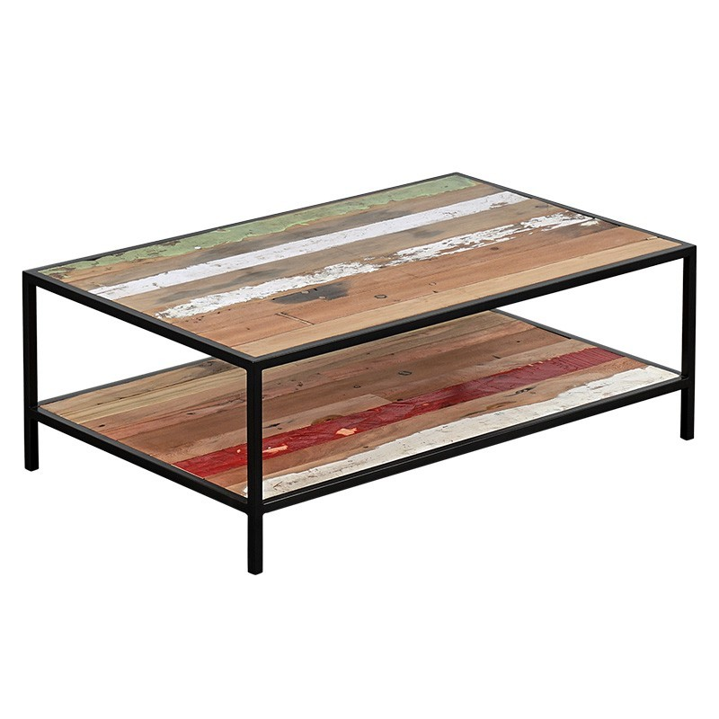 N°2.10AK29 - Table basse style industriel DOCKER 110
