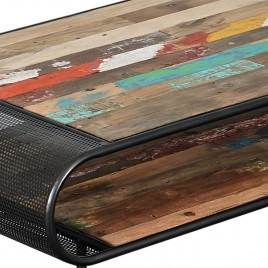 Table basse industrielle Aru 120 cm