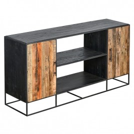 N°1.4 AK33 - Buffet 2 portes 2 Niches CONTEMPORAIN 180 cm métal et bois recyclé