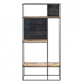 N°1.4AK33 - Etagère 3 niveaux Contemporaine 90 cm métal et bois recyclé