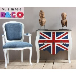 Commode en teck Union Jack 4 tiroirs D