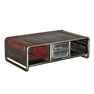 N°1.2SI08 - Table basse Industrielle Sabah 1 tiroir