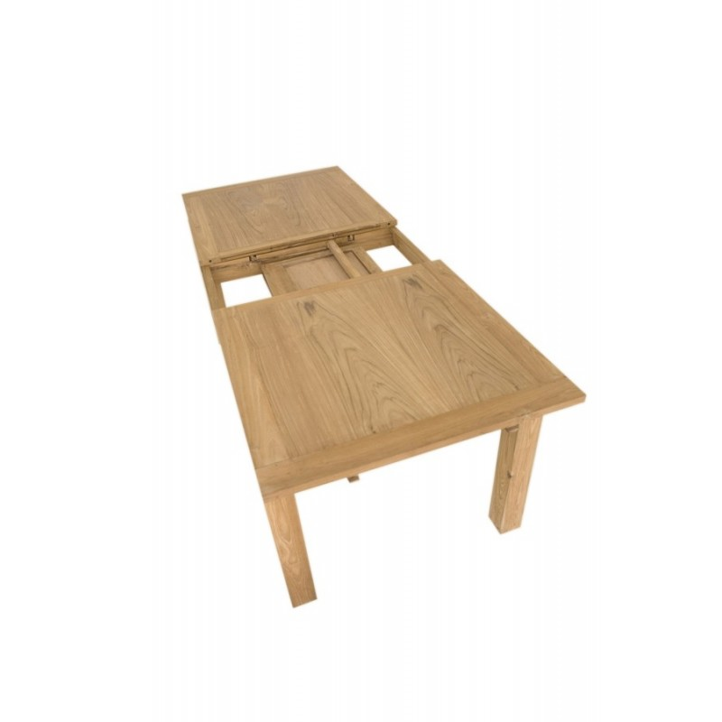 Table repas extensible en teck ankor for Table extensible en largeur