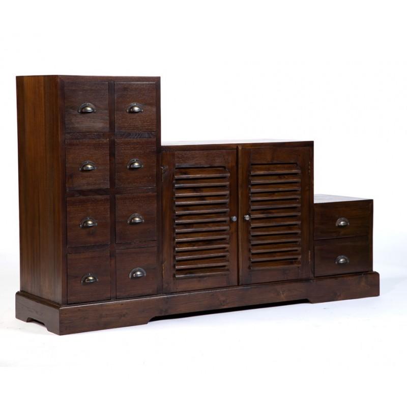Magnifique meuble tv escalier en teck antik pas cher en vente chez origin 39 s meubles - Meuble bois recycle pas cher ...