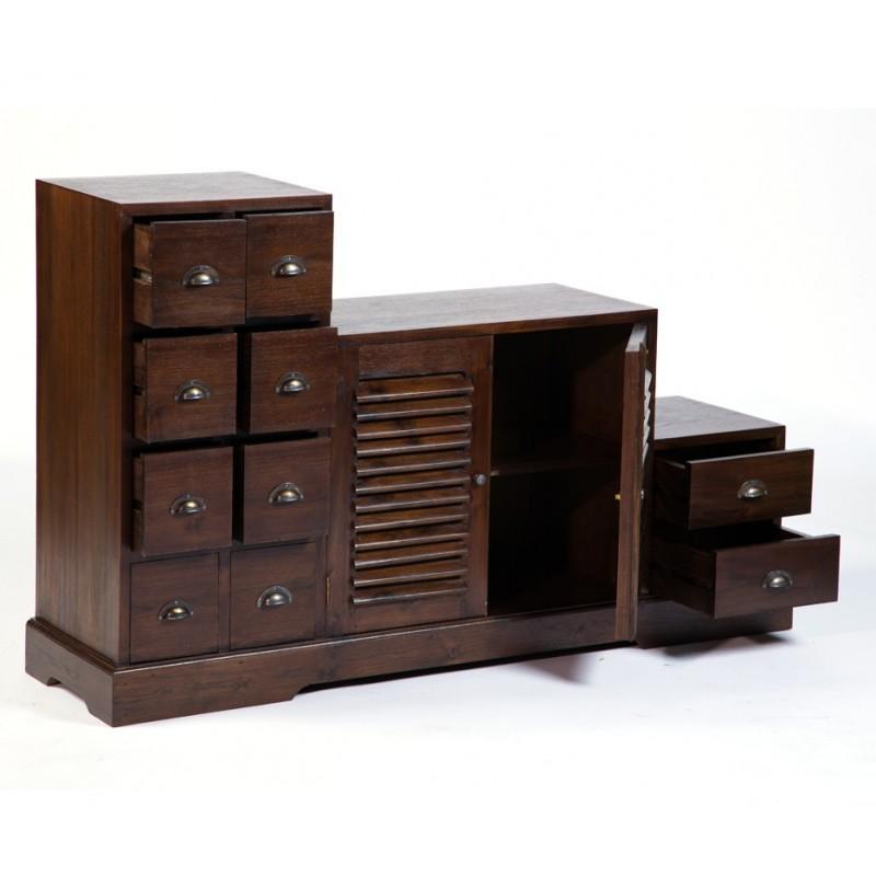 Magnifique meuble tv escalier en teck antik pas cher en - Meuble exotique pas cher ...