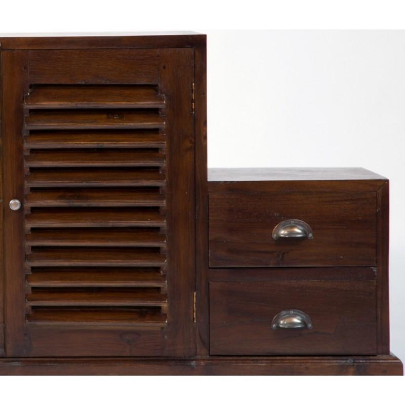 magnifique meuble tv escalier en teck antik pas cher en vente chez origin 39 s meubles. Black Bedroom Furniture Sets. Home Design Ideas