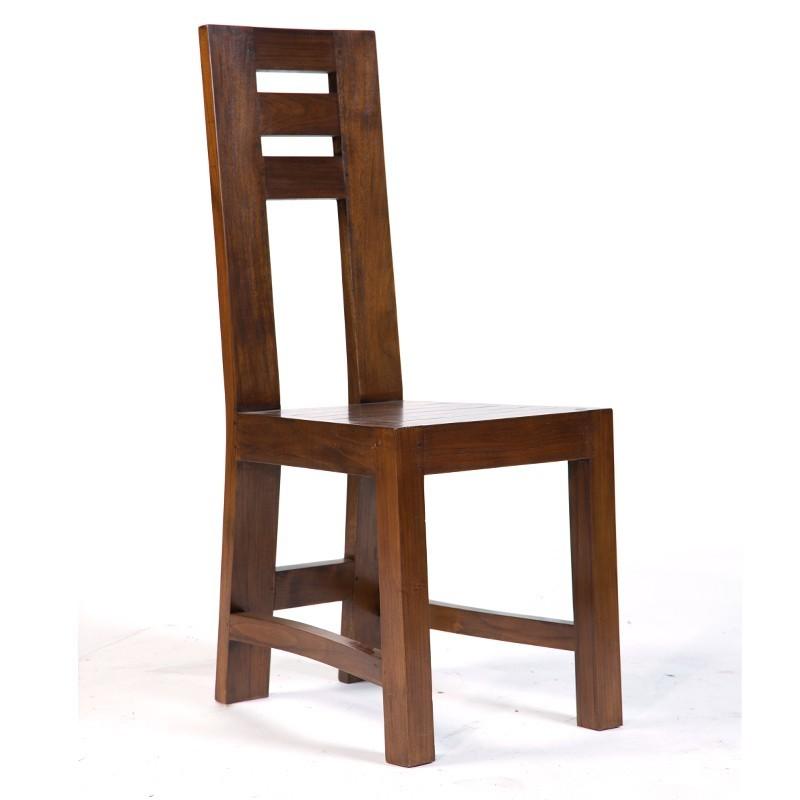 magnifique chaise en teck massif finition antik. Black Bedroom Furniture Sets. Home Design Ideas