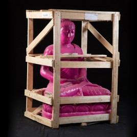 Bouddha méditation Flashy Rose