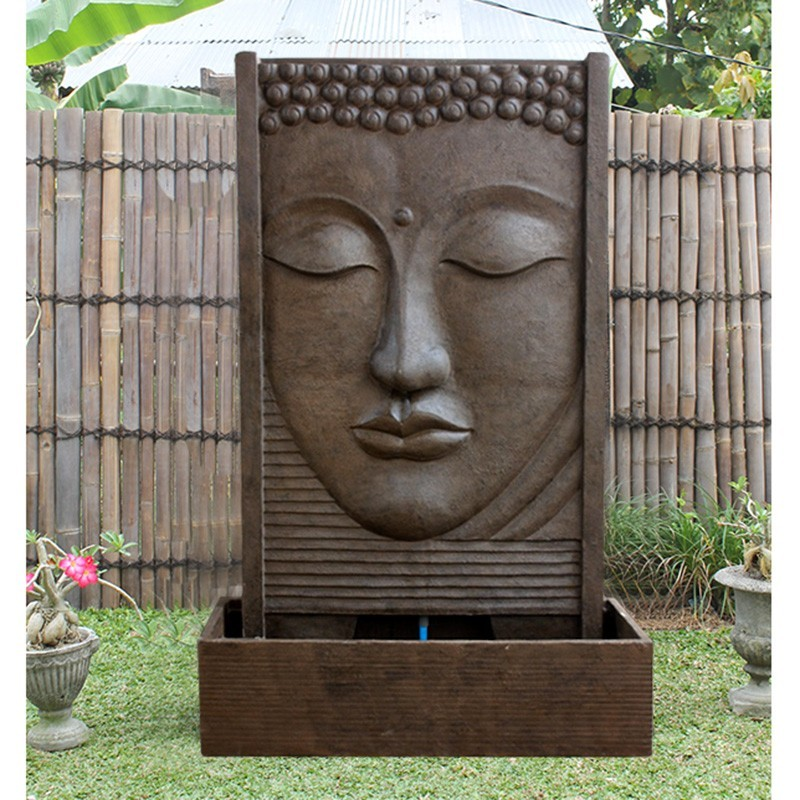 superbe fontaine mur d 39 eau face de bouddha pas ch re. Black Bedroom Furniture Sets. Home Design Ideas