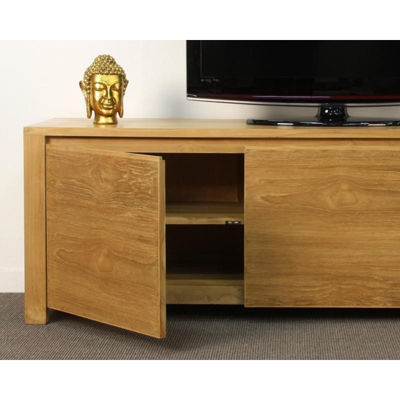 meuble tv 3 portes goa en teck origin 39 s meubles. Black Bedroom Furniture Sets. Home Design Ideas