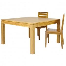 Table repas carrée fixe teck Naturel
