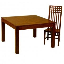 Table repas Fixe Teck teinte GM