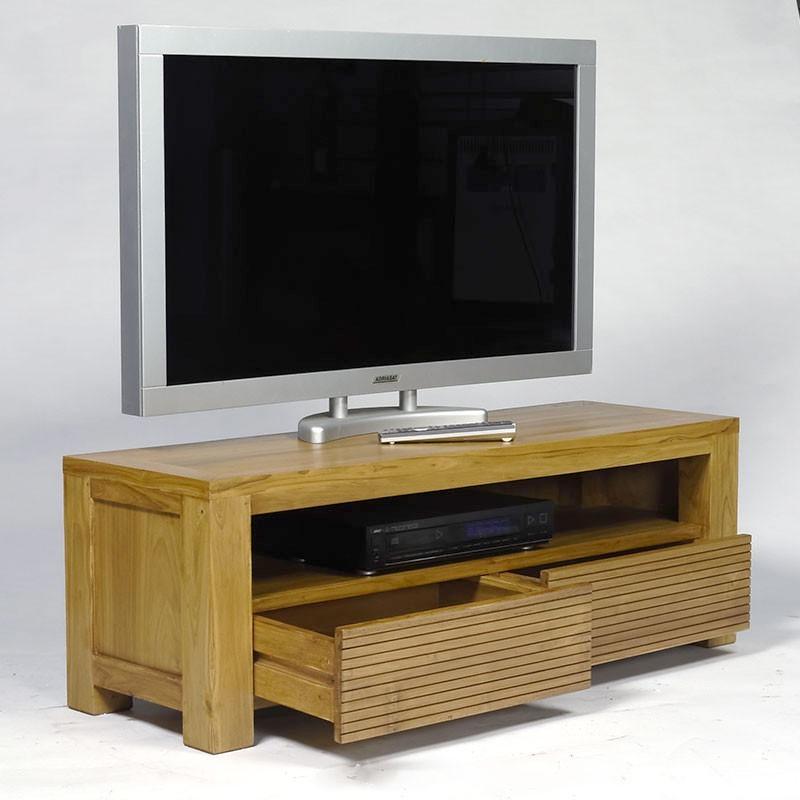 Meuble tv design en teck macao en vente chez orgin 39 s maison for Design suisse meuble