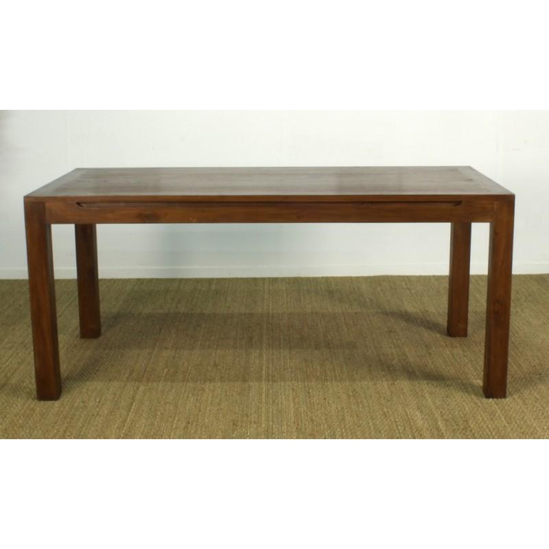 table repas rectangulaire japan en teck origin 39 s meubles. Black Bedroom Furniture Sets. Home Design Ideas