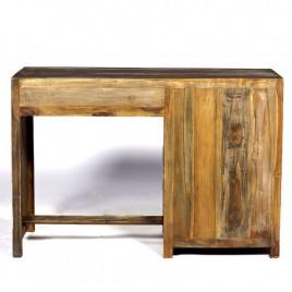 Bureau 3 tiroirs bois de bateau recyclé Osiris