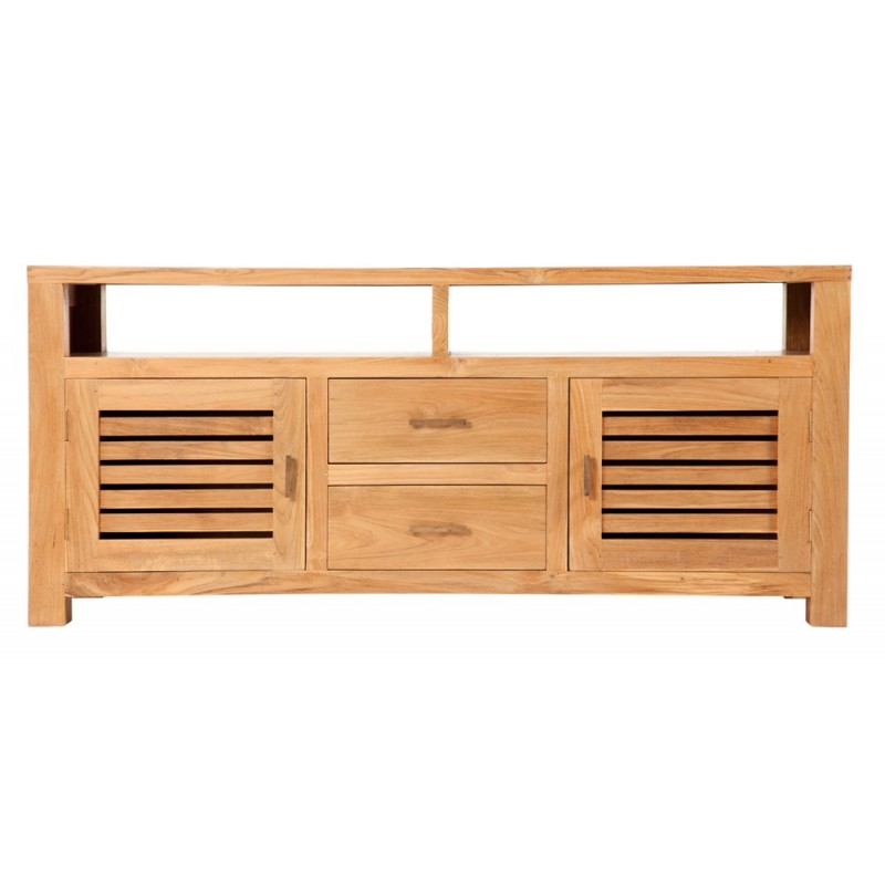 meuble tv teck 2 portes 2 tiroirs Origins meubles -> Meuble Tv En Teck Alinea