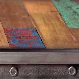 Tabouret de bar industriel Factory Samudra avec dossier