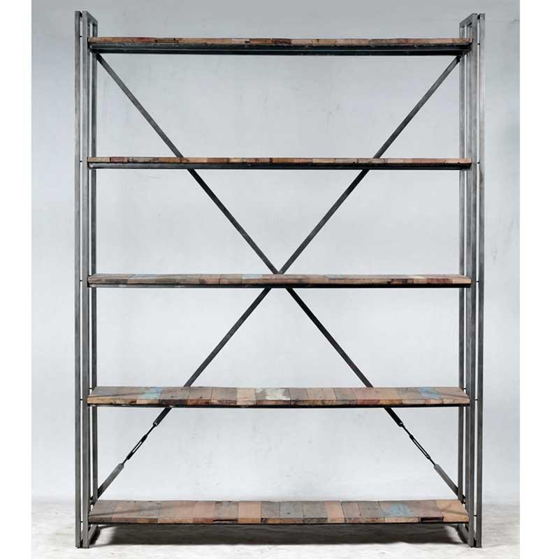 grande tag re industrielle fer et bois de bateau recycl pas cher en vente chez origin 39 s meubles. Black Bedroom Furniture Sets. Home Design Ideas