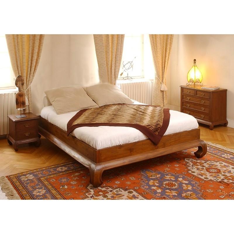 lit opium teck pas cher en vente chez origin 39 s meubles. Black Bedroom Furniture Sets. Home Design Ideas