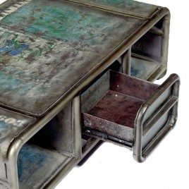 Table basse Industrielle Sabah 1 tiroir