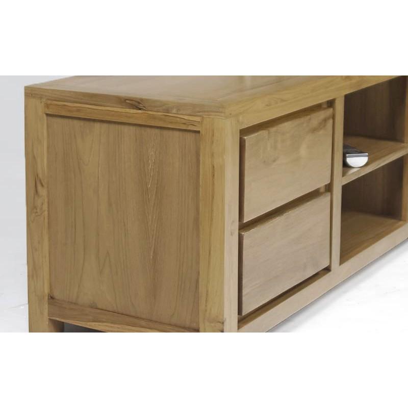 meuble tv contemporain en teck livraison gratuite. Black Bedroom Furniture Sets. Home Design Ideas