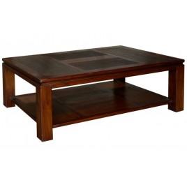 Table basse en teck bicolore Halong
