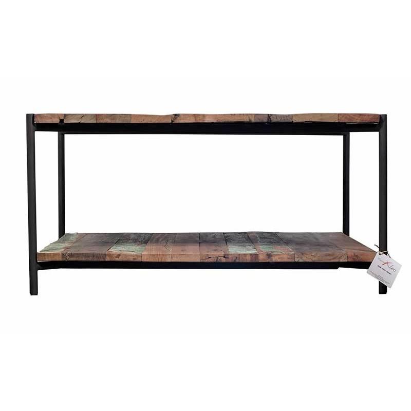 Table basse car e en bois de bateau recycl livraison - Table basse carree en bois ...