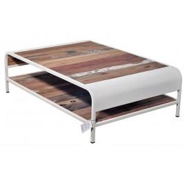Table basse Industrielle Vintage rectangulaire