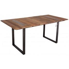 Table repas style indus métal et bois recyclé Newport 180