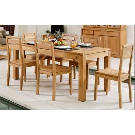 Table salle à manger en teck extensible