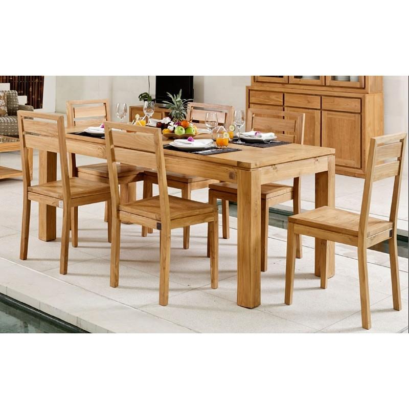 table repas extensible en teck ankor. Black Bedroom Furniture Sets. Home Design Ideas