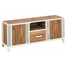 Meuble TV industriel 140 cm CHIC métal et bois recyclé