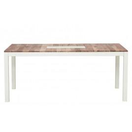 Table repas extensible style industriel 180 cm