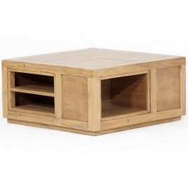 Table basse teck CUBE