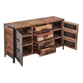Buffet Industriel fer et bois recycle