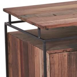Buffet industriel Nako.métal et bois recyclé 120 cm